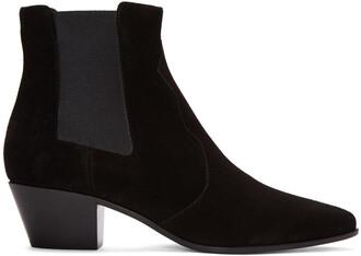 rock boots suede black shoes
