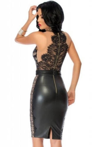dress wots-hot-right-now celebrity style leather faux leather little black dress celebstyle for less date dress party dress sexy party dresses lace dress black dress lace top lace chic trendy girly cocktail dress sexy dress