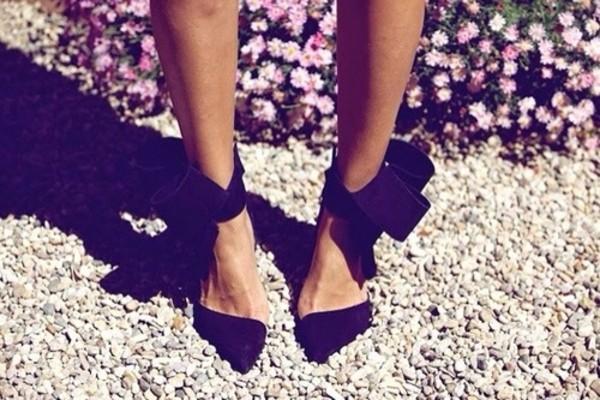 shoes black pumps pumps high heels black bow black high heels