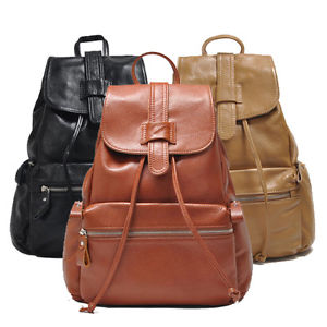 New Fashion Real Soft First layer Cow leather Woman Lady Backpack Bag   eBay