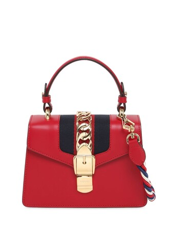 mini bag shoulder bag leather red