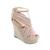 Silk Vamp Nude Pink Wedge Sandals [AS1546] - $93.99 :