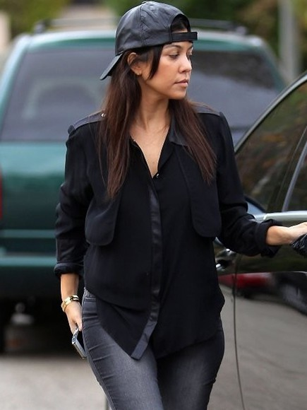 kourtney kardashian black blouse