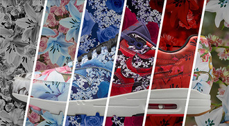 shoes nike air max flowers floral city pack girly summer trendy sportswear blue pink urban floral print shoes skateboard