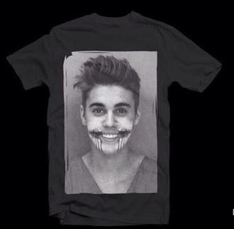 shirt justin bieber chelsea grin black