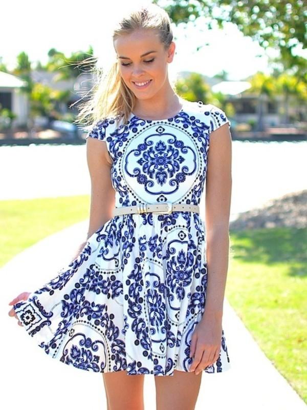 Royal Luxe Ivory Print Dress Royal Luxe Ivory Print Dress