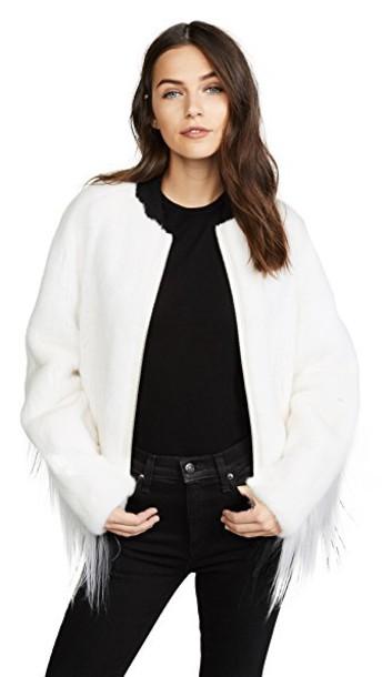 Cara Mila jacket bomber jacket white black