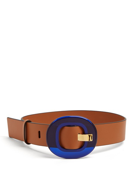 MARNI belt waist belt leather tan