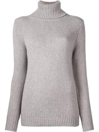 jumper turtleneck women grey sweater
