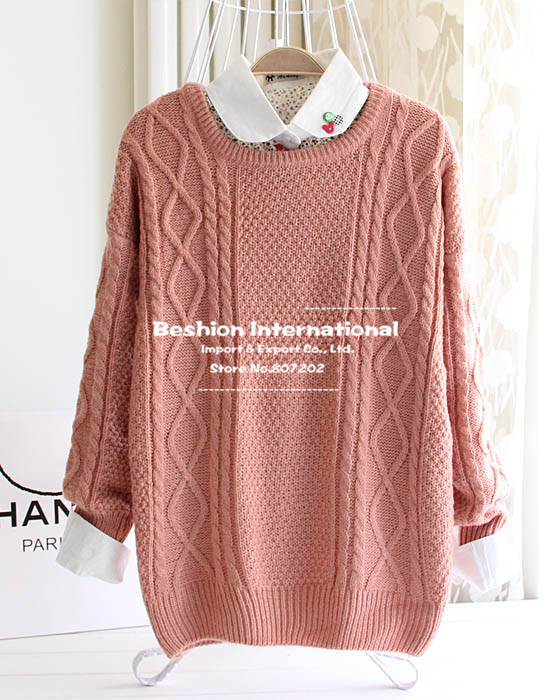 2014 Fashion warm winter pullover women sweater women Vintage ...
