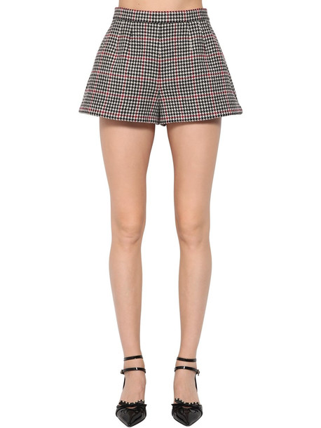 shorts high wool houndstooth multicolor