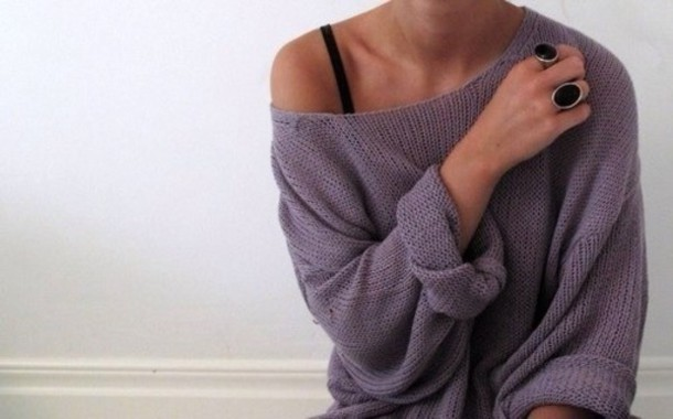 sweater grey tumblr baggy sweater slouchy sweater shirt