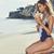 Indah Moto Smocked String Bandeau Bikini Top