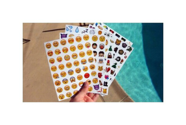 home accessory emoji print emoction stickers