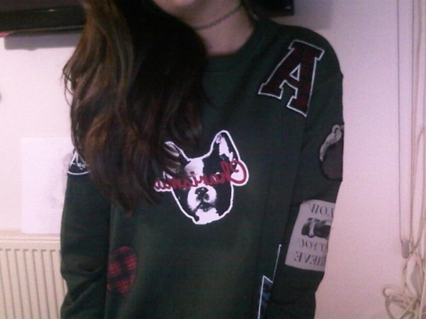 green rad pale swearshirt sweater