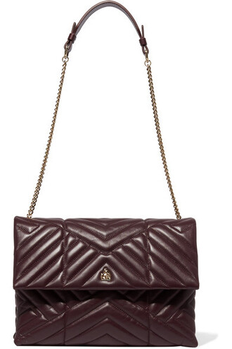 quilted bag shoulder bag leather burgundy