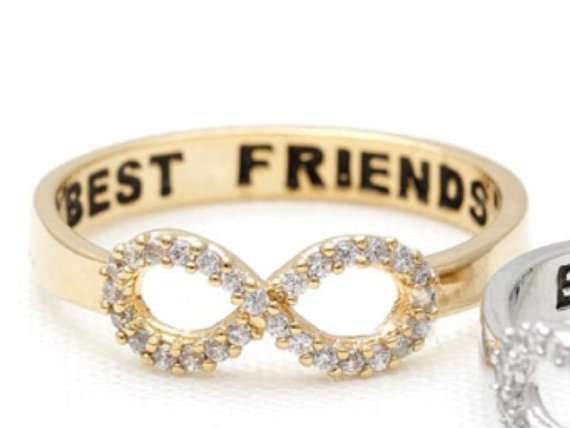 Best friend infinity ring crystal infinity best by superbracelets