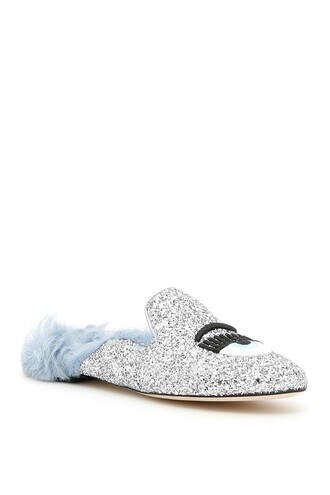 glitter mules shoes