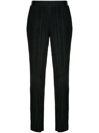 pleated women black pants