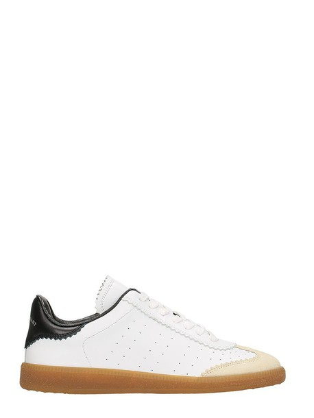 Isabel Marant sneakers leather suede white shoes