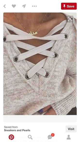 sweater knit laces winter sweater soft