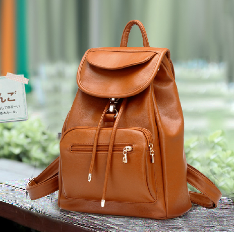 Vintage Brown Leather Backpack on Luulla