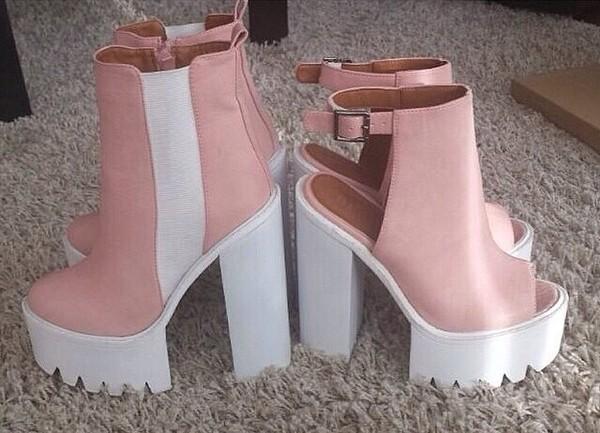 shorts pink platforms pink high heels platform high heels platform shoes