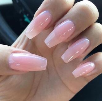 nail polish opi nails coffin nails pink translucent tumblr tumblr nails pretty peng pinterest uñas