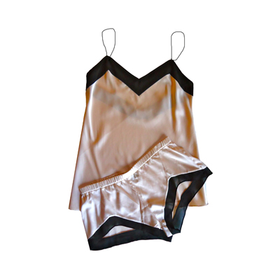 Brulee boudoir cami and short