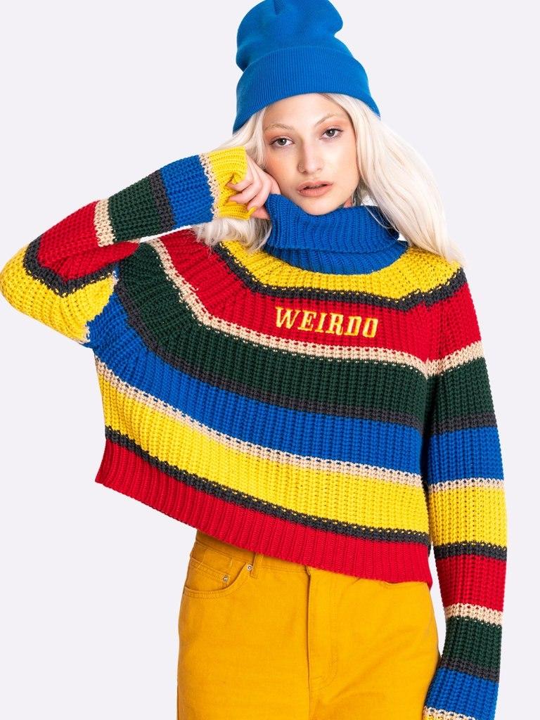 Weirdo Knitted Striped Jumper