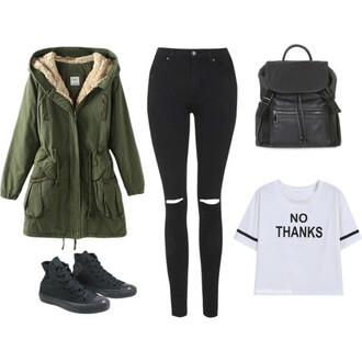 shirt clothes fashion outfit coat jeans shoes bag