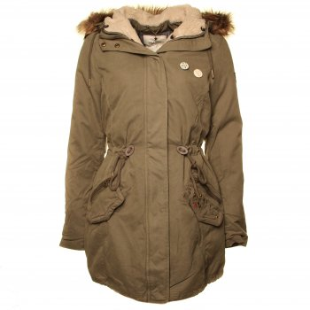 Buy Tommy Hilfiger Denim Isabella Parka in Dusty Olive at Hurleys