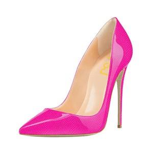 Pink 4 Inch Heels Pointy Toe Pumps Women's Stiletto Heels