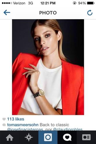 jacket red jacket blazer