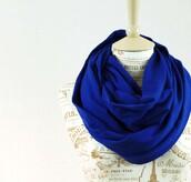 scarf,jersey,cotton,jersey scarf,infinity scarf,jersery cotton scarf,eternity scarf,fashion scarf,cobalt blue,roayl blue scarf,loop scarf,tardis blue,accessory dish,accessorie