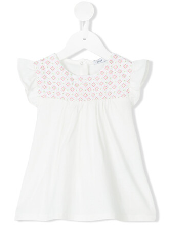 blouse embroidered white cotton 24 top