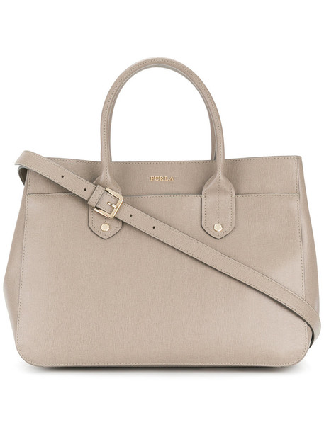 Furla women leather grey bag