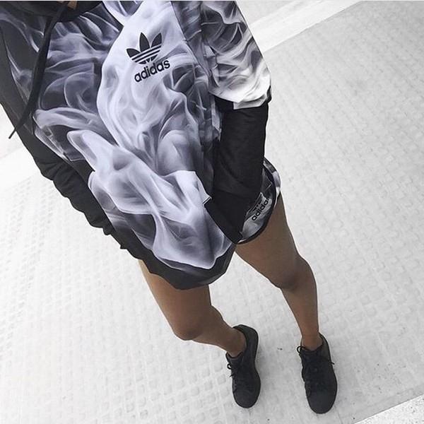 jacket adidas adidas jacket hoodie black black hoodie grey gray hoodie