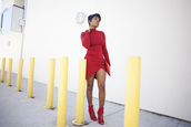 locks and trinkets,blogger,red dress,red heels,asymmetrical