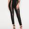 Sheena black laced up leggings
