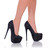 Black Satin Rhinestone Pump | Yallure