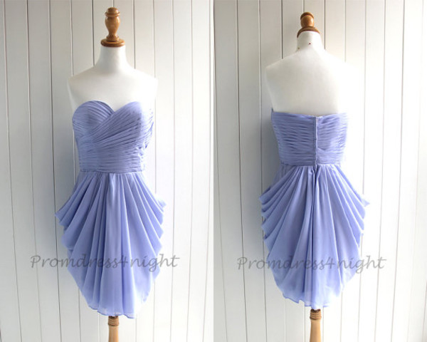 lavender prom dress short prom dress short bridesmaid dress chiffon bridesmaid dress prom gown cheap homecoming dress