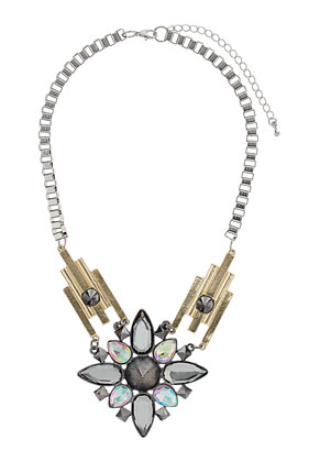 Stone Spike Tube Necklace - Topshop