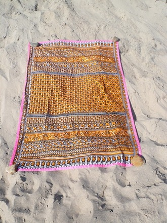 swimwear towel blanket vintage indian gypsy beach sunshine indie