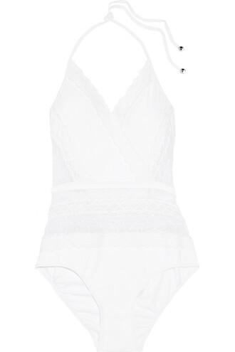 crochet white swimwear