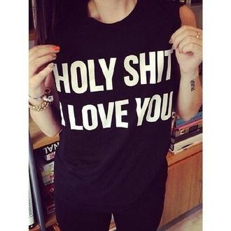 shirt black i love you shop for shirt black i love you on wheretoget. Black Bedroom Furniture Sets. Home Design Ideas
