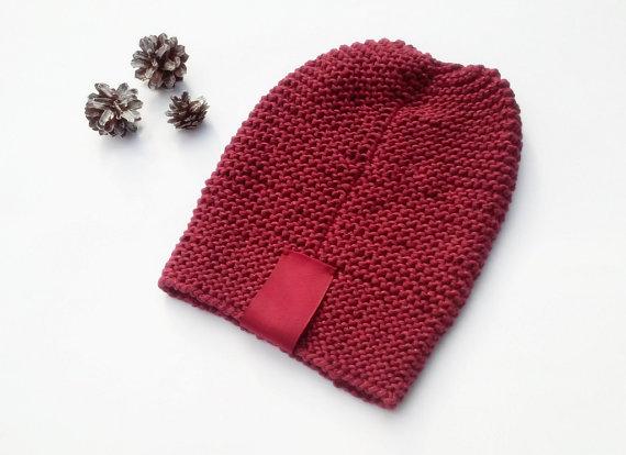 6faefbb1471 Teen Beanie  Women Beanie  Hand Knit Beanie  Slouchy Hat