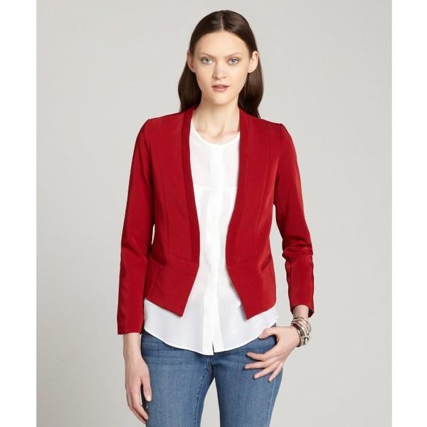 Aryn K Red Open Front Blazer - Aryn K. - Polyvore