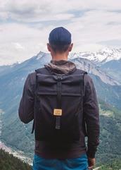 bag,laptop backpack,backpack,black,black backpack,rucksack,rolltop backpack,mens backpack,mens accessories,laptop bag,travel backpack