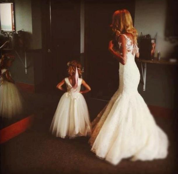 dress hair wedding dress flower girl dresses white dress